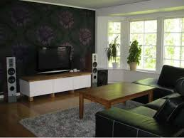 Wallpaper For Living Room Black Wallpaper Living Room Centerfieldbar Com
