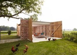 outbuilding the week garage lantern german wirth architects brick garage gardenista