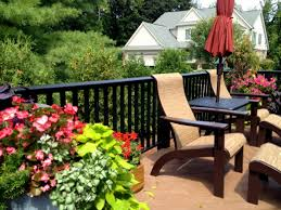 ideas for decorating a deck with plants st louis decks Deck Garden Ideas