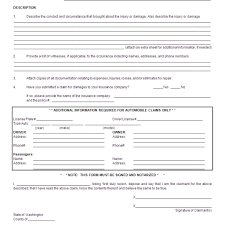 download property damage reporting form template wordxerox