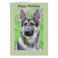 german shepherd birthday cards u0026 invitations zazzle com au