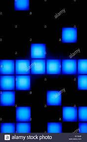 hawaii oahu blue cube blocks falling on screen in a game room