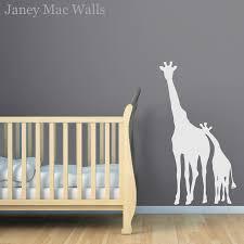 giraffe wall decal childrens jungle safari sticker room decor zoom