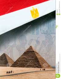 Image Of Flag Of Egypt Flag Of Egypt And The Pyramids Stock Illustration Illustration