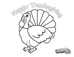 coloring page of turkey free printable thanksgiving coloring pages