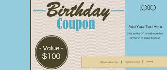 free custom birthday coupons customize online u0026 print at home