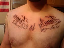 words on chest 35 unique word tattoos for