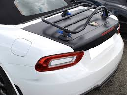 fiat spider white trunk rack for 124 fiat spider abarth convertible luggage racks