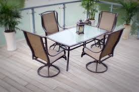 Sling Patio Dining Set - outdoor patio dining furniture sling 7pc set bronze aluminum steel