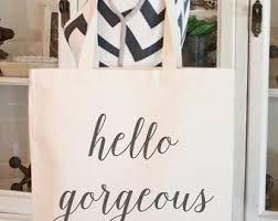 hello gift bags modern bag etsy
