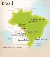 Amazon River On World Map by Wild Planet Adventures Brazil