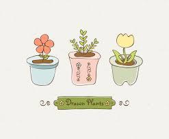 cute plant cute drawn plants vector art graphics freevector com