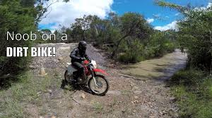dirt bike trail boots first time on a dirt bike honda crf230f youtube