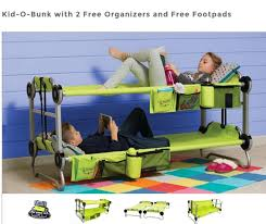 Folding Bed For Kid Kid O Bunk Portable Bunk Beds For Sleepovers And Cing