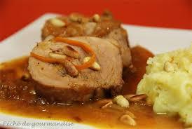 cuisiner un filet mignon de porc filet mignon de porc confit à l orange miel et pignons péché de