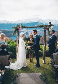 wedding arch hire queenstown backdrop o queenstown nz winter g e n u i ne l o ve