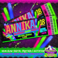 hashtag neon party birthday party invitation birthday fiestas infantiles ideas originales y divertidas de