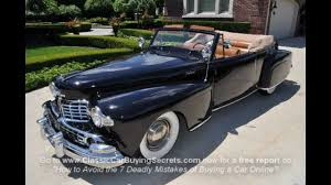 1947 lincoln continental convertible classic muscle car for sale