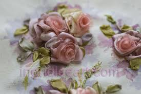 silk ribbon roses my silk ribbon roses tutorial featured in creative vintage charm