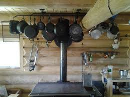 pots and pans rack with rustic pot and pan hanger ceiling for barn