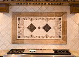 backsplash medallions kitchen kitchen backsplash water jet cut tile designs with medallions