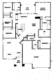 5 bedroom 1 story house plans verde ranch floor plan 2780 model