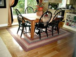 Braided Rugs Round by Braided Rug Under Kitchen Table Creative Rugs Decoration