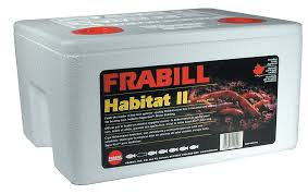 amazon com frabill habitat ii foam worm box with super gro