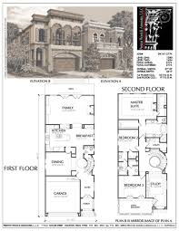 baby nursery home plans narrow lot narrow urban home plans small