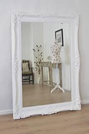 mirror white frame etsy intended for large white shabby chic