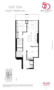 50 wellesley condos floor plans 1d2 a model