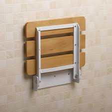 Fold Away Wall Mounted Desk Small Bathroom Spaces With Wood Wall Mounted Folding Shower Seats