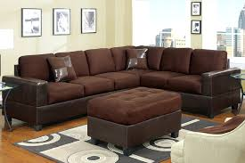 Microfiber Sectional Sofa With Chaise Chocolate Sectionals Microfiber U0026 Used Couch Chocolate Brown