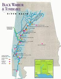 tombigbee waterway map inland rivers in the usa