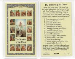 prayer cards stations of the cross holy prayer card fully laminated