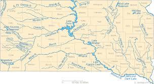 south dakota road map map of south dakota lakes streams and rivers