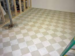Tile On Concrete Basement Floor by Checkerboard Painted Concrete Basement Floor In New Craft Room I U0027m
