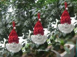 christmas crafts ideas crochet santa claus craft ideas