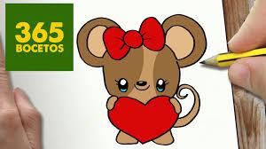 imagenes de ratones faciles para dibujar como dibujar raton kawaii paso a paso dibujos kawaii faciles how