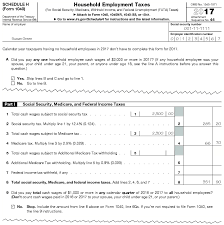 nc withholding tables 2017 2017 instructions for schedule h form 1040 household employment