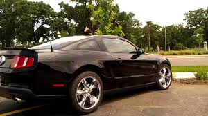 Black Chrome Wheels Mustang Mustang Gt With 20 Inch Chrome Rims Youtube