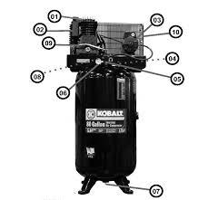 kobalt 80 gallon air compressor wiring kobalt 26 gal air