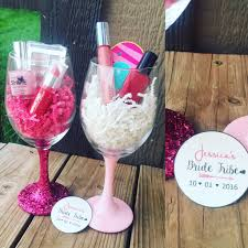 wine glass party favor bachelorette party wine glasses knot and nest designs