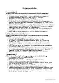 33 free esl news newspaper worksheets