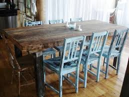 Rustic Farmhouse Dining Table And Chairs Rustic Farmhouse Dining Table Set Barnwood Plans Rectangular