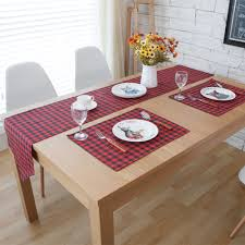 Dining Room Table Placemats by Compare Prices On Red Plaid Placemats Online Shopping Buy Low