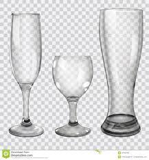 martini transparent background set of transparent glass goblets stock vector image 40465465