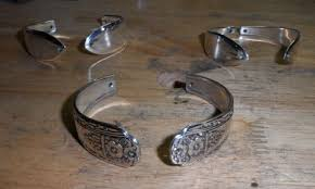 Silver Spoon Jewelry Making - how to make flatware spoon and forks bracelets 15 steps