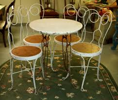 ice cream parlor table and chairs set found in ithaca antique ice cream table and four chairs sold