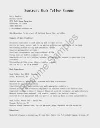 Examples Of Banking Resumes Sample Application Letter For Bank Teller With No Experience